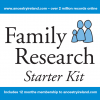 Family Research Starter Kit Memory Stick (Includes 12 months membership)