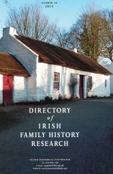 Directory of Irish Family History Research, no. 38, 2015